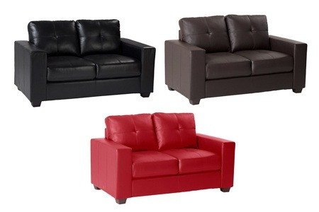 Leather 2 Seater Couch for R3699 Including Delivery (36% Off)