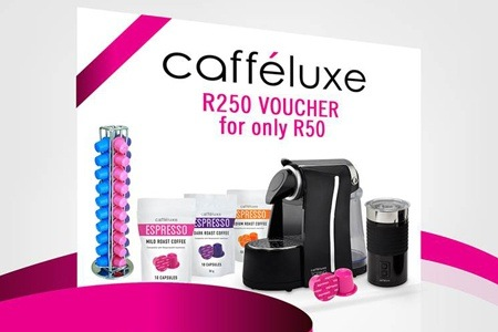 R250 Caffeluxe Voucher for only R50
