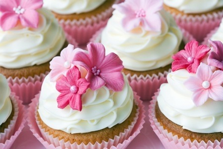 Themed Packaged Cupcakes and an Orchid at Kelly Jayne's Cake Boutique