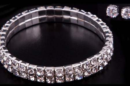 Tennis Bracelet and Earring Set Made With Swarovski Elements for R369.99 Including Delivery (65% off)