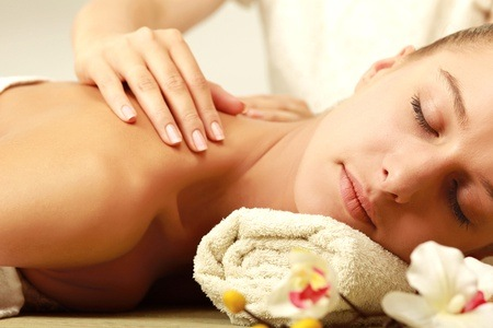 Full Body Aroma Therapy Massage, Manicure and Pedicure at Pretty Perfect Beauty Salon