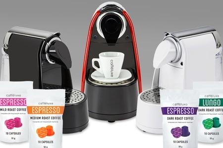 Verona Espresso Machine and 200 Coffee Capsules from Caffeluxe