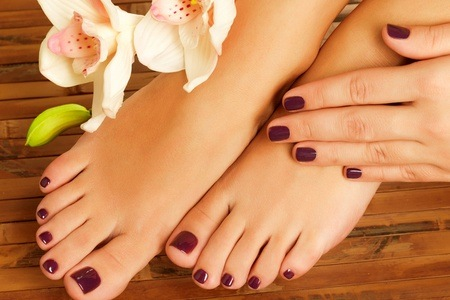 Manicure and Cosmetic Peel Pedicure with Gelish Overlays at Spa Rejuvenesce