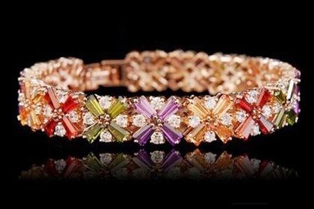 Multi-coloured Zircon Bracelet for R399.99 Including Delivery (69% off)