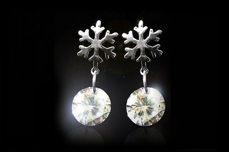 Swarovski Elements Snowflake Earrings for R299.99 Including Delivery (66% off)