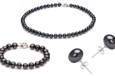 Black Semi Baroque Pearls Tri Set For R399.99 Including Delivery (81% Off)