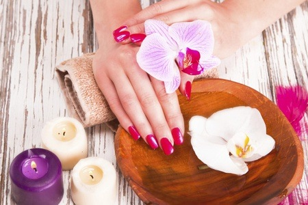 Manicure and Pedicure with Gelish Overlays at Shine Beauty & Hair Salon
