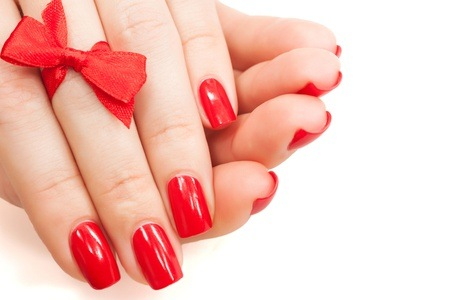 Manicure and Pedicure with Overlays at Bassonia Beauty