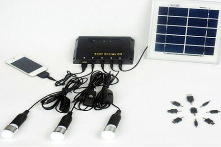 Solar Energy Kit with Cell Phone Connectors for R799 Including Delivery (50% off)
