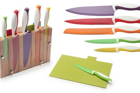 10-Piece Knife Block & Cutting Board Set for R599.99 Including Delivery (40% off)