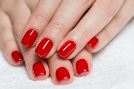 Manicure and Pedicure with Gel Overlays at Eyecandy Beauty Salon