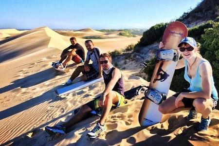 Sandboarding with Sandboarding Sunday's River