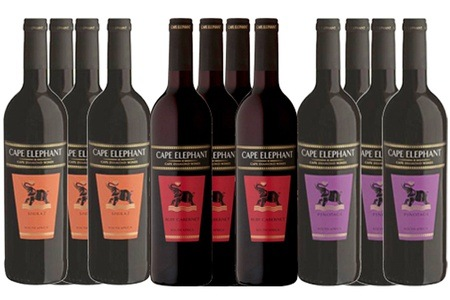 Mixed box of 12 Red Lutzville Cape Elephant Wines for R479 Including Delivery (60% Off)