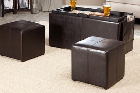 Three-Piece Coffee Table Storage Ottoman Set for R1 545 Including Delivery (61% Off)