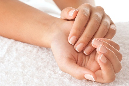 Manicure and Pedicure with Gel Overlays at Be-Dazzle Hair & Beauty