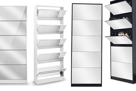 Five-Shelf Mirrored Shoe Storage Cabinet for R1 595 Including Delivery (57% Off)