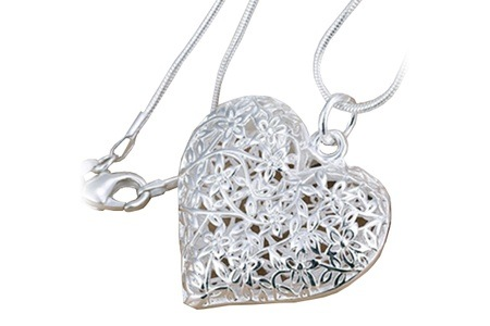 Sterling Silver Heart Pendant for R349.99 Including Delivery (50% Off)