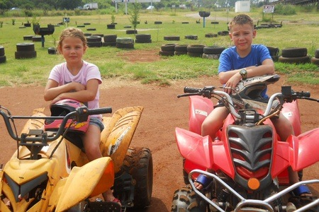 Kiddies Quad Rides with a Cold Drink and Chips at Zwartkops Quad Centre