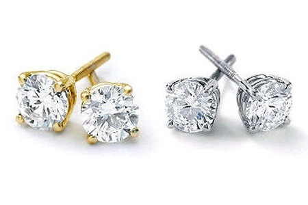 White or Yellow Gold Stud Earrings from R3 799.99 Including Delivery (Up To 57% Off)