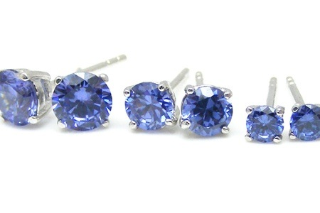 Synthetic Tanzanite Stud Earrings for R439.99 Including Delivery (29% Off)