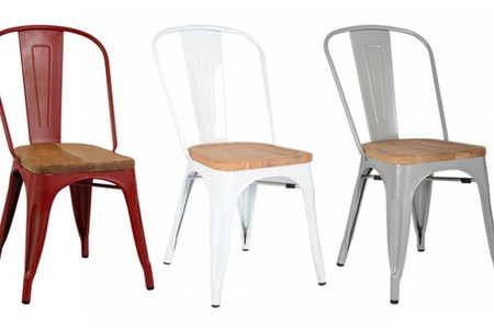 Xavier Pauchard Inspired Tolix Chair with Wooden Seat for R589.99 Including Delivery (40% Off)
