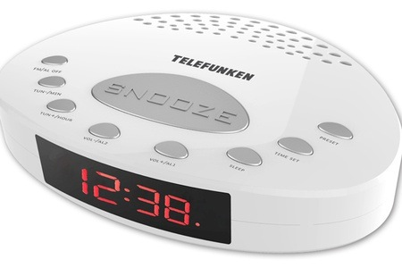 White FM Alarm Clock Radio for R199 Including Delivery (33% Off)