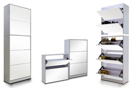 Five-Level Stackable Mirrored Shoe Cabinet for R1999 Including Delivery (Up to 50% Off)