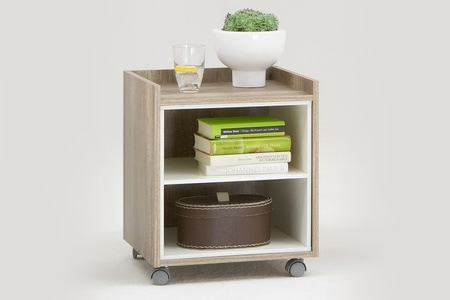 Oak and White Viktor Side Table for R599.99 Including Delivery (40% Off)