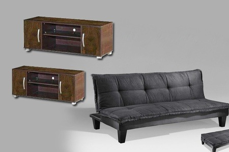 Sleeper Couch and Plasma Stand for R2 499 Including Delivery (55% Off)