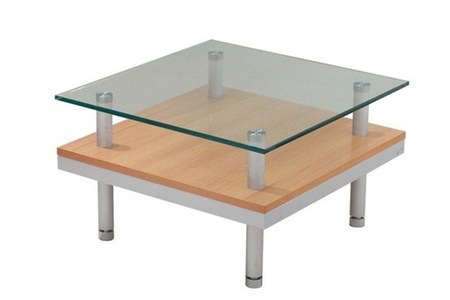 Square Coffee Table With Glass Top for R1 395 Including Delivery(30% Off)