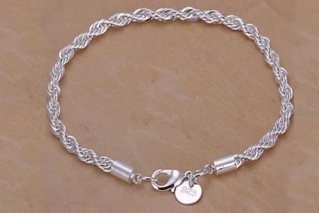Sterling Silver Twisted Line Bracelet for R289.80 Including Delivery (50% Off)