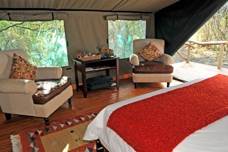 Kenton-on-Sea: Luxury Camp Stay for Two at Sibuya Game Reserve