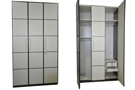 Black Oak and White Wardrobe for R6 495 Including Delivery (24%Off)