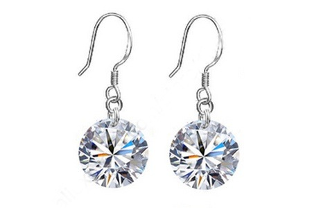Replica Diamond and Silver Drop Earrings for R224.99 Including Delivery (55% Off)