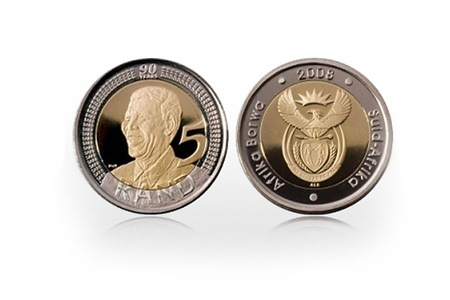 Mandela 90th Birthday R5 MS66 NGC Graded Coin for R699 (84% Off)