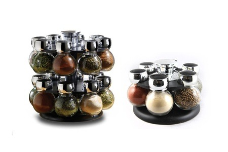 Eight, 12 or 16-Jar Rotating Spice Rack From R311.23 Including Delivery (Up To 46% Off)