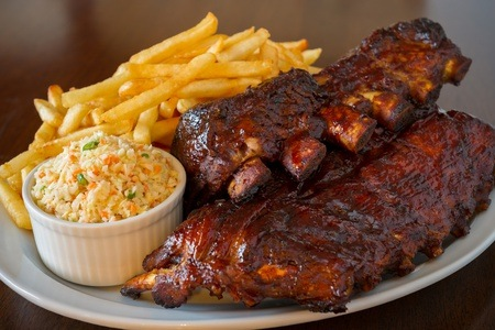 Ribs, Chips and Garlic Loaf from R180 at Scrooge Diner (Up to 55% Off)