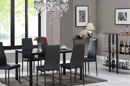 Seven-Piece Kharkov Dining Set with Glass Top For R2 595 Including Delivery (28% Off)