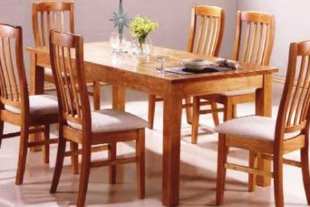 Light Beech Oak Finish Seven-Piece Wooden Dining Set For R6 995 Including Delivery (30% Off)