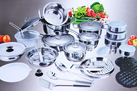 40-Piece Stainless Steel Pot Set For R1 360.85 Including Delivery (68% Off)