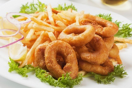 Calamari and Chips From R69 with Sauce at Crispies Fish and Chips (Up To 54% Off)