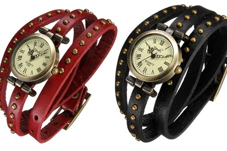 Retro Vintage Leather Strap Watch for R275.79 Including Delivery (45% Off)