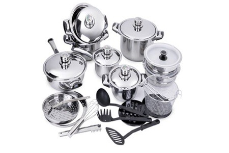 27-Piece Stainless Steel Cookware Set For R1 399 Including Delivery (30% Off)