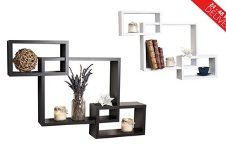 Fine Living Three Piece Wooden Cube Wall Shelf For R399 Including Delivery 43