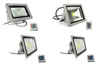 Remote Control RGB LED Flood Lights from R358 Including Delivery (50% Off)