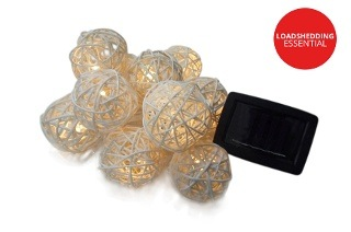 Solar Powered Rattant Globe Lights for R199 Including Delivery (50% Off)