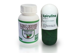 Green Coffee Bean Tablets and Spirulina Tablets for R199.18 Including Delivery (54% Off)