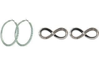 Hoop or Infinity Loop Earrings with Swarovski Elements from R199 Including Delivery (Up to 60% Off)