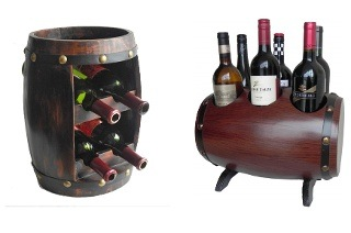 Four or Six Bottle Wine Rack Barrel from R489 Including Delivery (Up to 26% Off)
