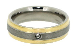 Men's Titanium Ring with Gold Styling for R149 Including Delivery (57% Off)